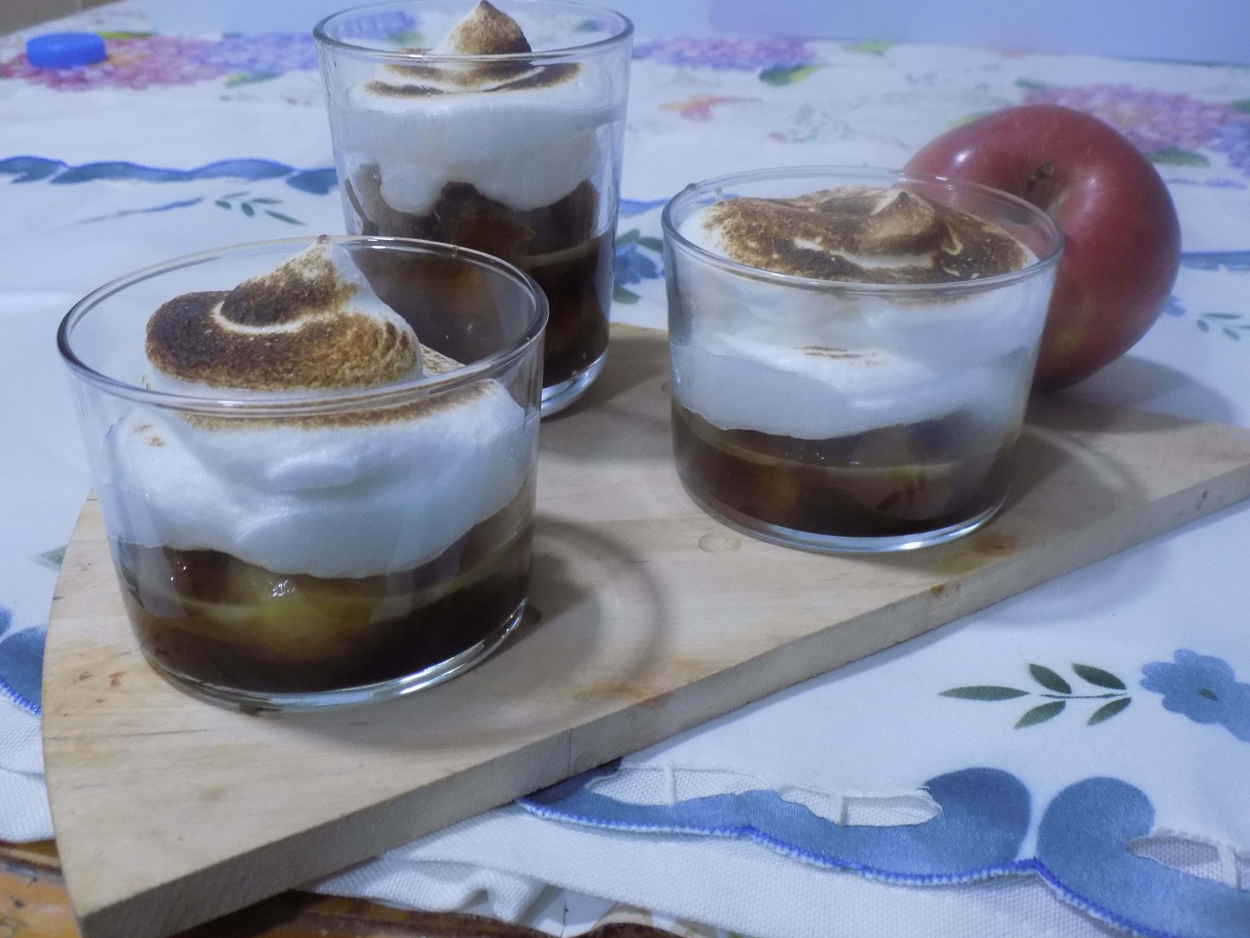 Compota de manzana con crema Mycook