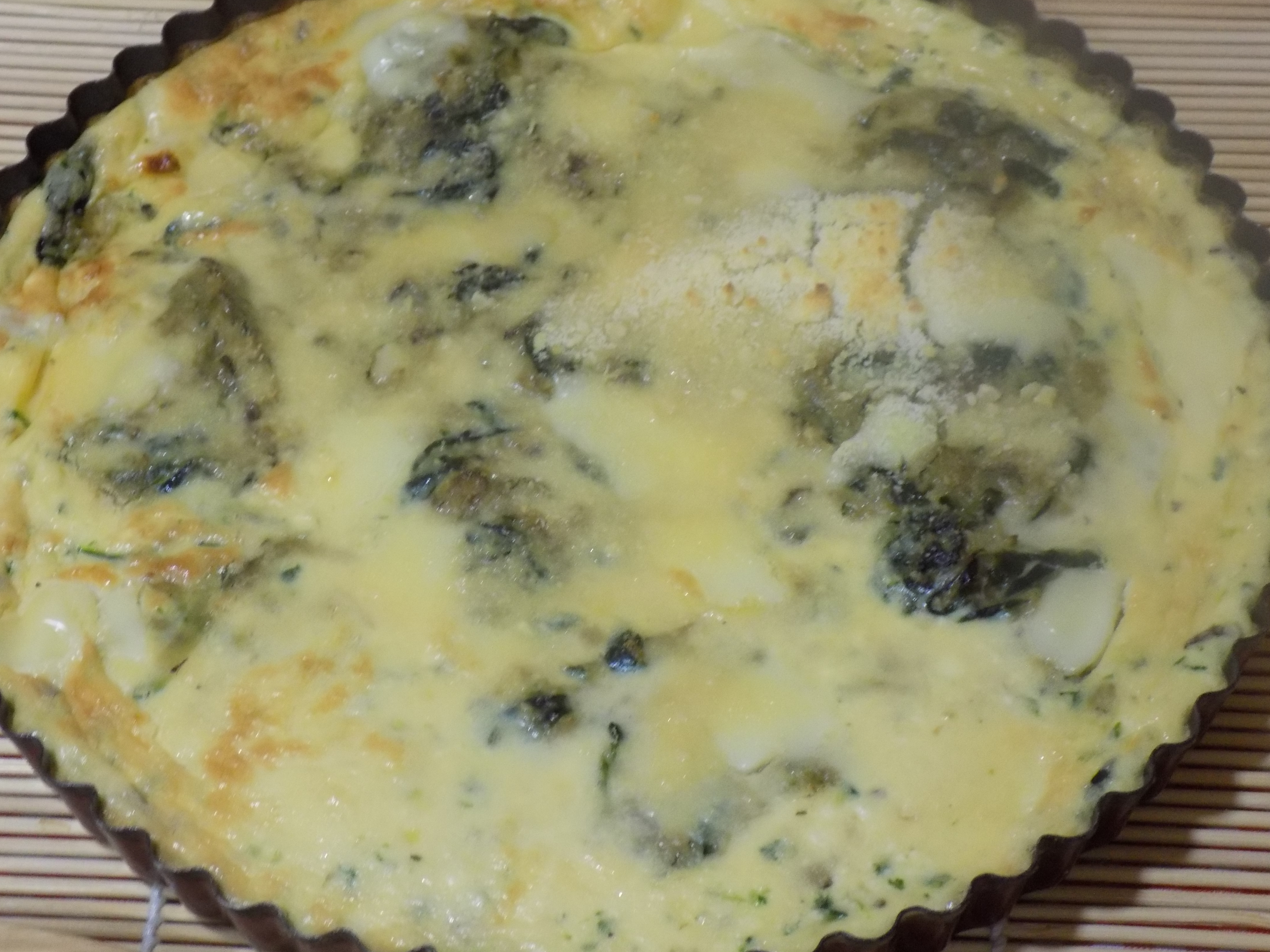 Fritatta de queso ricotta,champiñones y espinacas baby con Mycook