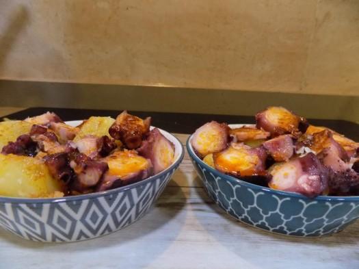 Patatas revolconas-con-pulpo con Mycook