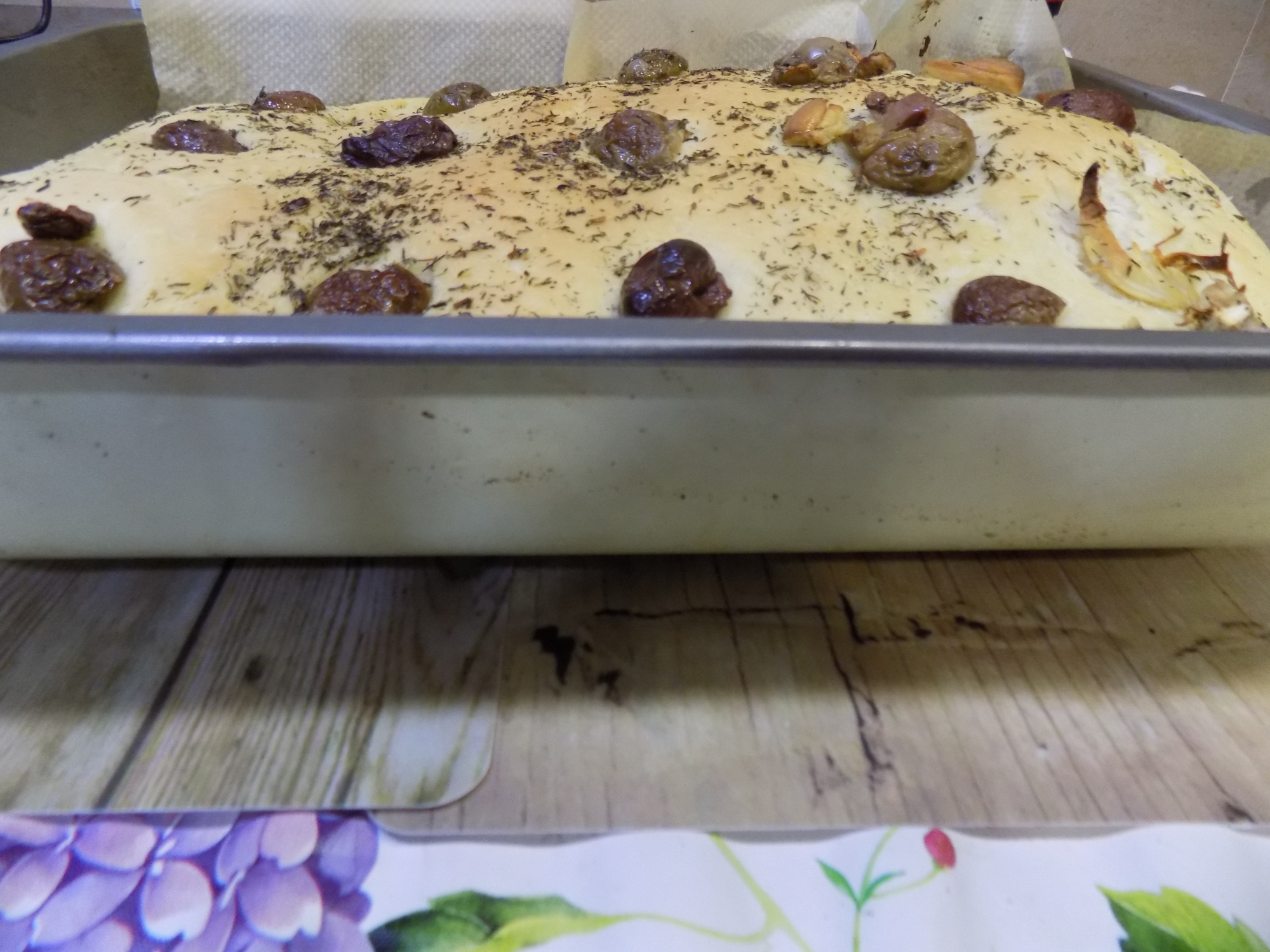 Focaccia de aceitunas y tomillo con Mycook
